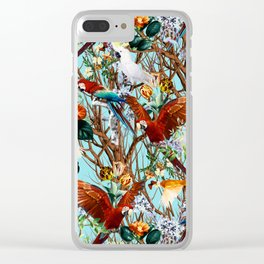 Floral and Birds XXX Clear iPhone Case