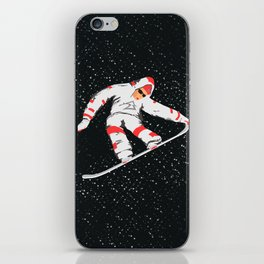 Snowboarder In The Air iPhone Skin