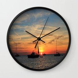 Sunrise over sea  Wall Clock