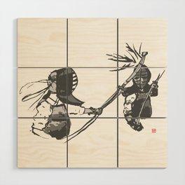 Naginata Sumi-E by Takemi Wood Wall Art