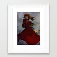 burdge Framed Art Prints featuring Ginny Weasley by Burdge