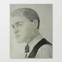 leonardo dicaprio Canvas Prints featuring Jay Gatsby - Leonardo DiCaprio by Moira Sweeney