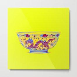 A FAMILLE-VERTE BISCUIT BOWL Neon art by Ahmet Asar Metal Print