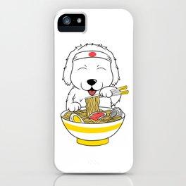 Great Pyrenees Eating Ramen  iPhone Case