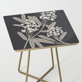 Boho Botanica Black Side Table