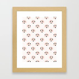 60s Style Geometric Polka Dot Circle Pattern, Seamless Vector Framed Art Print