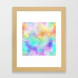 Blue Pastel Fireworks Framed Art Print