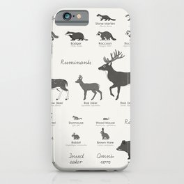 Infographic Guide to Forest Animals iPhone Case
