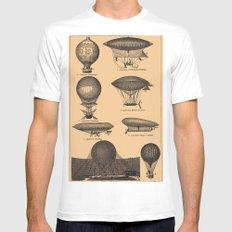 Airships / Air Balloons Mens Fitted Tee MEDIUM White