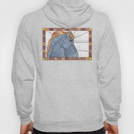 "Mixed Medium ""Stained Glass"" Horse Hoody"