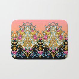 Border with Golden Arabesques and Flowers Bath Mat
