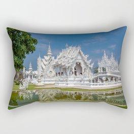 White Temple Thailand Rectangular Pillow