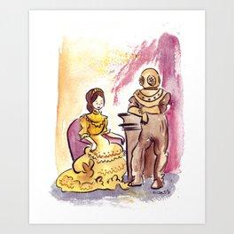 Victorian Couple Art Print