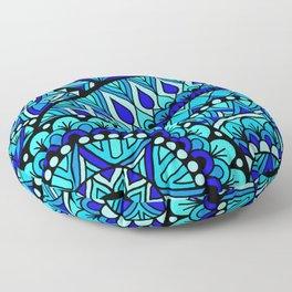 Single Wave Mandala Floor Pillow