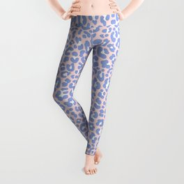 Pink and Blue Leopard Leggings