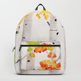 Autumn Birch Song Backpack