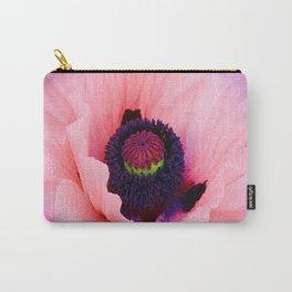 PURPLE  POPPY FLOWER  VIGNETTE Carry-All Pouch