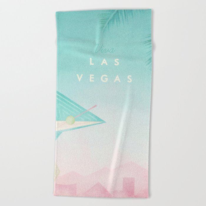 Las Vegas Beach Towel By Wetcake Society6