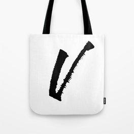 Letter V Ink Monogram Tote Bag