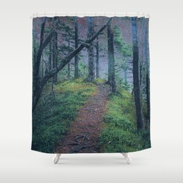Nightly Woods Shower Curtain
