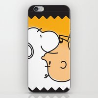 charlie brown iPhone & iPod Skins featuring Snoopy & Charlie Brown by Goce Veleski