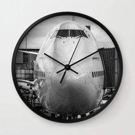 Prepare for Departure Wall Clock