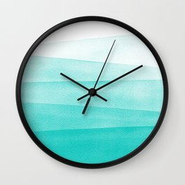Mint Green Watercolor Ombré Dip Dyed Wall Clock