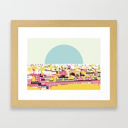 Rooftop view Framed Art Print