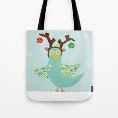 Holly Jolly Christmas Birdie Tote Bag