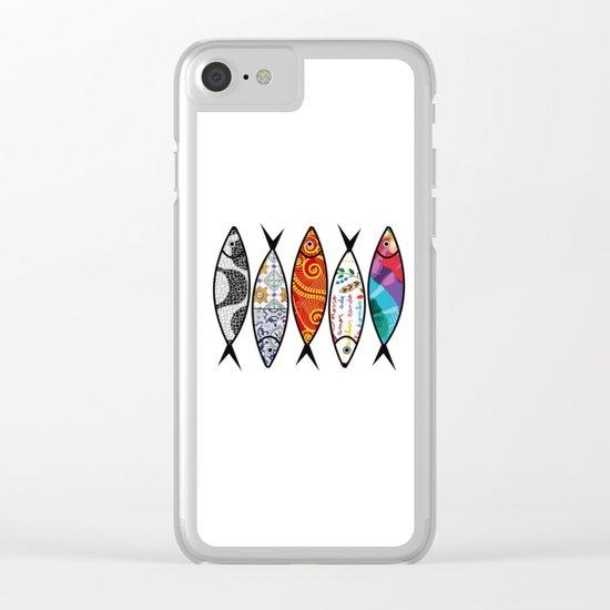 Sardines 5 colour Clear iPhone Case