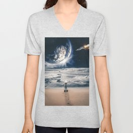 My house which is the earth by GEN Z Unisex V-Neck