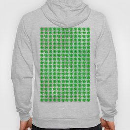 Four leaf clover pattern on texture Hoody