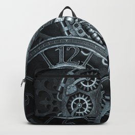 Silver Steampunk Clockwork Backpack