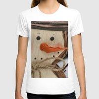snowman T-shirts featuring Snowman  by IowaShots