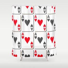 The gambler IV Shower Curtain