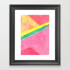 Twisted Melon Framed Art Print