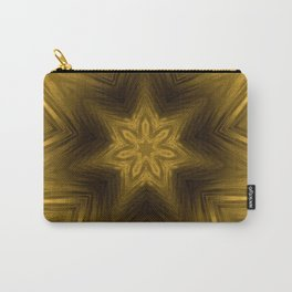 Golden Amber Metalic Abstract Star #Kaleidoscope Carry-All Pouch