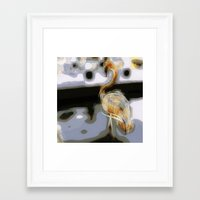 flamingo Framed Art Prints featuring flamingo by Cool-Sketch-Len