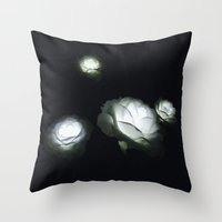 led zeppelin Throw Pillows featuring LED Roses by Luke J