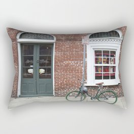 New Orleans Green Bicycle Rectangular Pillow