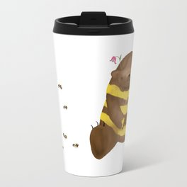 Milk chocolate bear imitating a bee Travel Mug