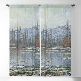 Claude Monet - The Thaw at Vétheuil.jpg Blackout Curtain