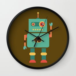 Fun Robot Toy Graphic Wall Clock