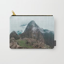 Ancient Inca ruins of Machu Picchu and surrounding Andes mountains in the early morning, Peru Carry-All Pouch