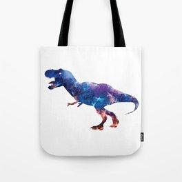 Galaxy T-Rex Abstract Dinosaur Tote Bag
