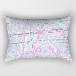 Flight of Color - pink turquoise Rectangular Pillow