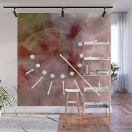 Line and pink Wall Mural
