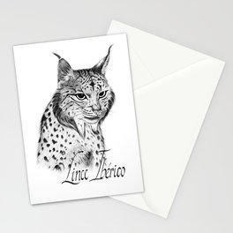 Iberian Lynx B/N Stationery Cards
