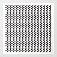 Black & White Dots & Lines Art Print
