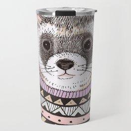 Hipster Ferret Travel Mug